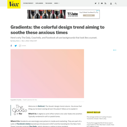Gradients are everywhere from Facebook to the New York Times - Vox