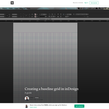 Creating a baseline grid in inDesign - Robin - Medium