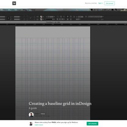 Creating a baseline grid in inDesign - Robin - Medium