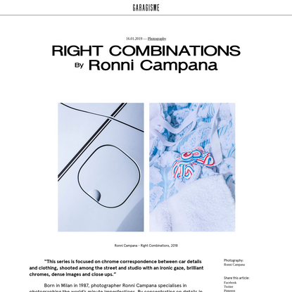 RIGHT COMBINATIONS | Garagisme