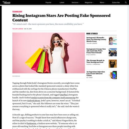 Rising Instagram Stars Are Posting Fake Sponsored Content