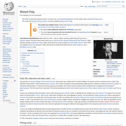 Manuel Puig - Wikipedia