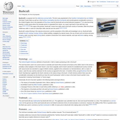 Bushcraft - Wikipedia