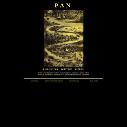 PAN - Philosophy Activism Nature