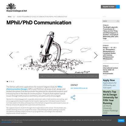MPhil/PhD Communication