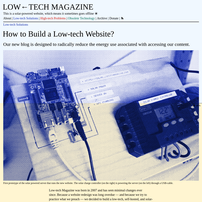 How to Build a Low-tech Website?