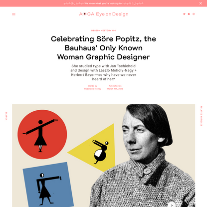 Celebrating Söre Popitz, the Bauhaus' Only Known Woman Graphic Designer
