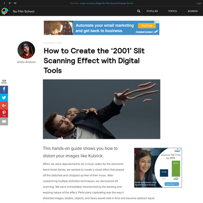 How to Create the '2001' Slit Scanning Effect with Digital Tools