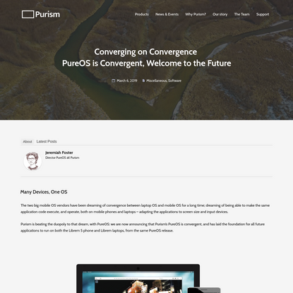 Converging on Convergence PureOS is Convergent, Welcome to the Future - Purism