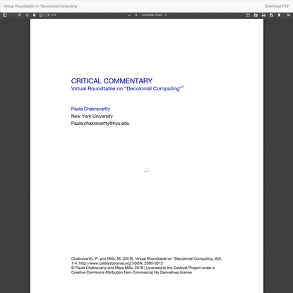 """View of Virtual Roundtable on """"Decolonial Computing"""""""