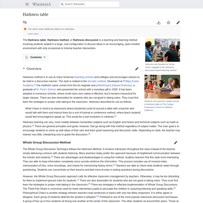 Harkness table - Wikipedia