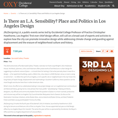 Is There an L.A. Sensibility? Place and Politics in Los Angeles Design