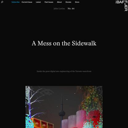A Mess on the Sidewalk | John Lorinc