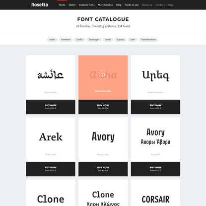 Rosetta Type Foundry - exclusive high-quality retail fonts with international language support