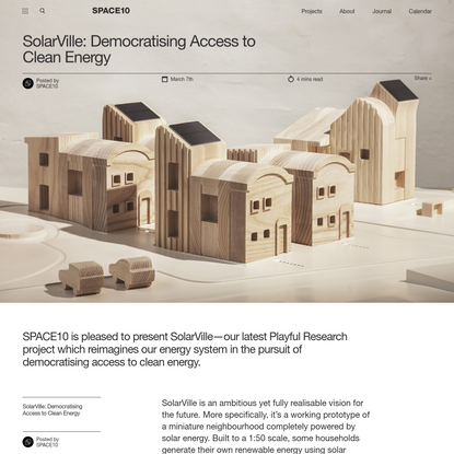 SolarVille: Democratising Access to Clean Energy - SPACE10