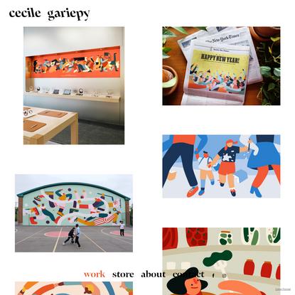 work - cecile gariepy - illustrations