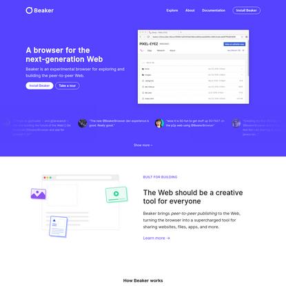 Beaker | Peer-to-peer Web browser. No blockchain required.