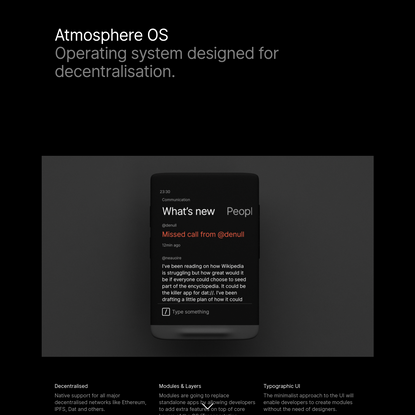 Embrace Clarity - Atmosphere OS