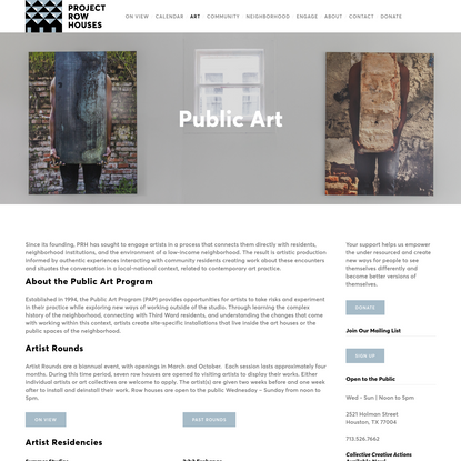 Public Art | Project Row Houses