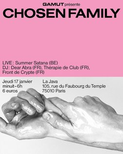 Chosen Family IV poster with @juliaandreone for @collectif_gamut #studioghazaalvojdani