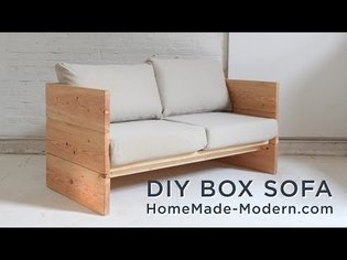 DIY Sofa made out of 2x10s