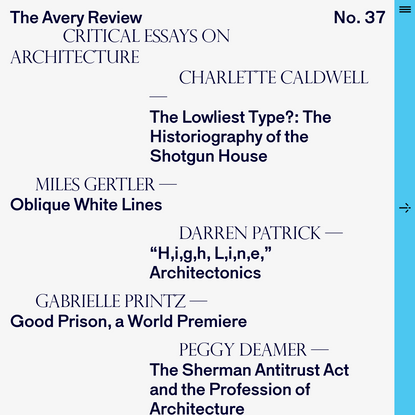 The Avery Review | home