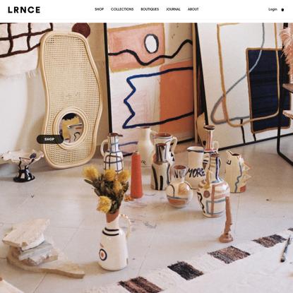 LRNCE - Ceramics, Textiles & Leather accessories