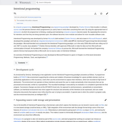 Intentional programming - Wikipedia