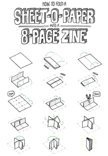 8 page zine from 1 sheet