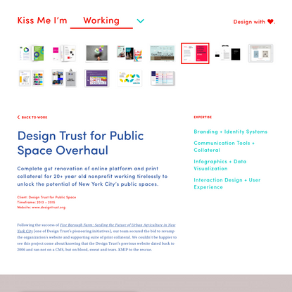 Design Trust for Public Space Overhaul |