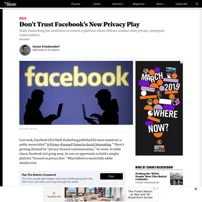 Don't Trust Facebook's New Privacy Play