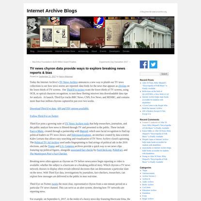 TV news chyron data provide ways to explore breaking news reports & bias