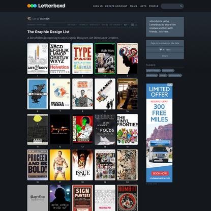 The Graphic Design List