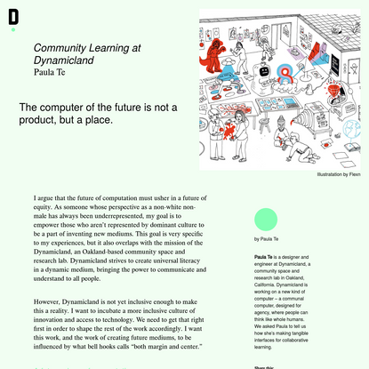 Community Learning at Dynamicland - Ding Magazine
