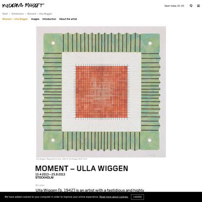 Moment - Ulla Wiggen   Moderna Museet i Stockholm