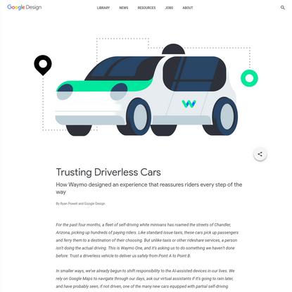 Trusting Driverless Cars - Library - Google Design
