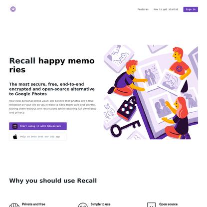Recall — Your decentralized photo vault