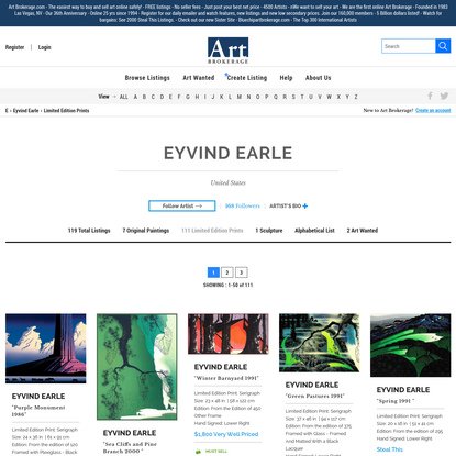 Eyvind Earle Art For Sale - 119 Listings
