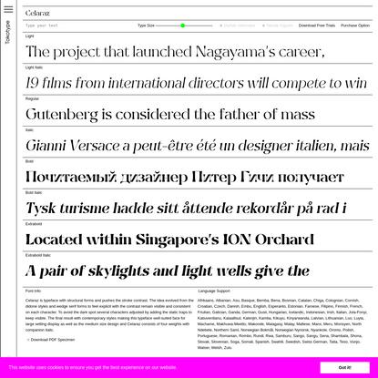 Celaraz Typefaces - Tokotype
