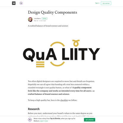Design Quality Components