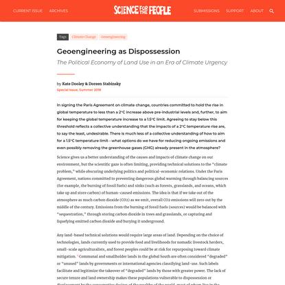 Geoengineering as Dispossession