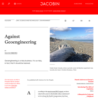 Against Geoengineering