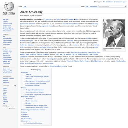 Arnold Schoenberg (composer)