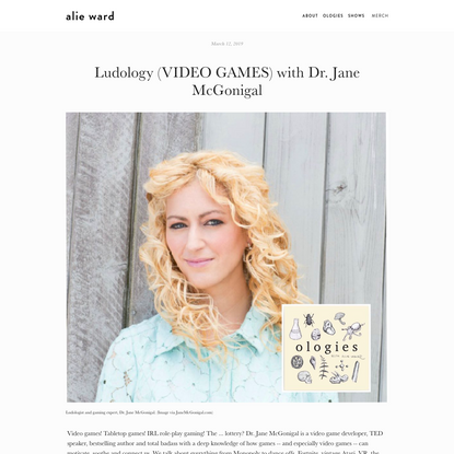 Ludology (VIDEO GAMES) with Dr. Jane McGonigal
