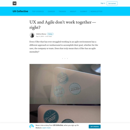 UX and Agile don't work together - right?