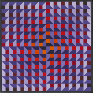 Ambiguous Structure No.92 1969 — Jean-Pierre Vasarely (Yvaral)