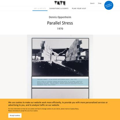 'Parallel Stress', Dennis Oppenheim, 1970   Tate