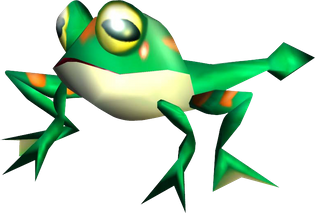 Froggy, from 'Sonic Adventure' on the Sega Dreamcast.