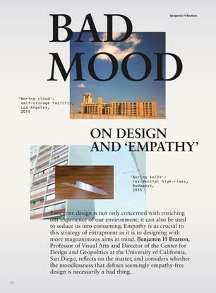 "Bad Mood - On Design and ""Empathy"""