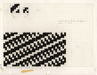 Anni Albers, Diagram showing modified and composite weaves, ca. 1965